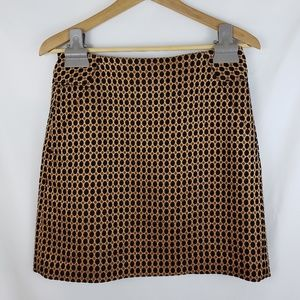 Ann Taylor LOFT Jacquard Polkadot Skirt Size 2